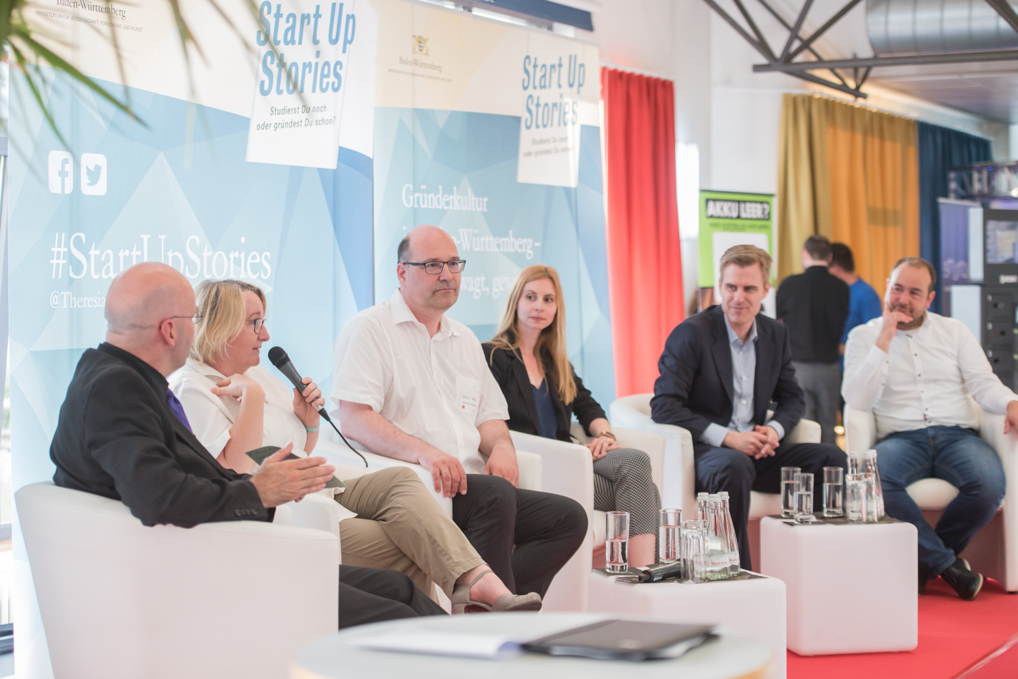 podiumsdiskussion beim gruendergeistevent